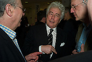 PETER KELLNER, KEN FOLLET AND CHRISTIAN WOLMAR. , Andrew Hosken - book launch party for 'Ken'<br />
