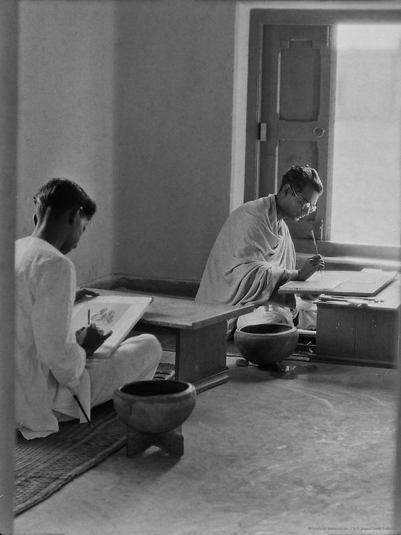Students, Tagore's University, Santiniketan, 1929