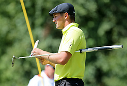 September 2, 2018 - Norton, Massachusetts, United States - Bryson DeChambeau lines up a putt on the 8th green during the third round of the Dell Technologies Championship. (Credit Image: © Debby Wong/ZUMA Wire)