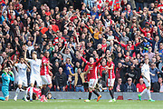 Wayne Rooney Forward of Manchester United appeals for a penalty during the Premier League match between Manchester United and Swansea City at Old Trafford, Manchester, England on 30 April 2017. Photo by Phil Duncan.