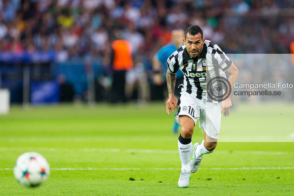 BERLIN, GERMANY - June 6th 2015:<br /> <br /> Juventus 10 Carlos Tevez during the UEFA Champions League Final between Juventus FC and FC Barcelona at Olympiastadion in Berlin, Germany on June 6th 2015. (Photo: Michael Campanella)