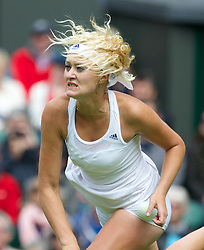 LONDON, ENGLAND - Monday, June 24, 2013: Kristina Mladenovic (FRA) during the Ladies' Singles 1st Round match on day one of the Wimbledon Lawn Tennis Championships at the All England Lawn Tennis and Croquet Club. (Pic by David Rawcliffe/Propaganda)