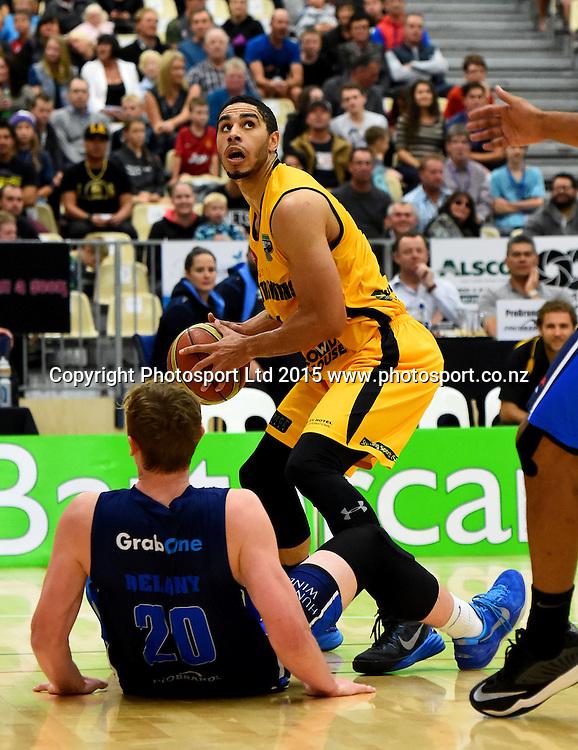 Taranaki player Aaron Fuller during their NBL Basketball game between the Nelson Giants v Taranaki Mountain Airs. Saxton Stadium, Nelson, New Zealand. Saturday 18 April 2015. Copyright Photo: Chris Symes / www.photosport.co.nz