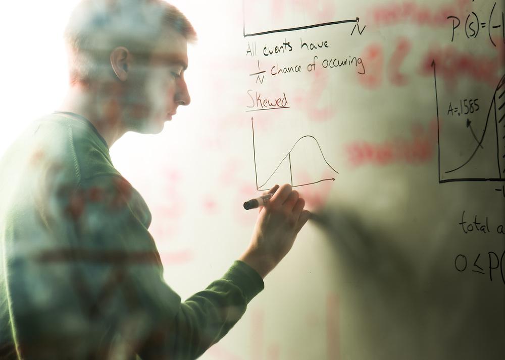 Chris Denhart, student/mathematical statistics People Students Portrait Undergraduate Admissions