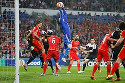 Wayne Hennessey of Wales (Crystal Palace) gathers the ball - Photo mandatory by-line: Rogan Thomson/JMP - 07966 386802 - 12/06/2015 - SPORT - FOOTBALL - Cardiff, Wales - Cardiff City Stadium - Wales v Belgium - EURO 2016 Qualifier.