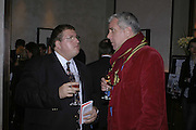 Jonathan Isaby and Paul Blezard, Charles Finch and Weidenfeld and Nicolson host a party to celebrate the publication of 'Dancing Into Battle' by Nick Foulkes. The Westbury Hotel, Conduit St. London. 14 December 2006. ONE TIME USE ONLY - DO NOT ARCHIVE  © Copyright Photograph by Dafydd Jones 248 CLAPHAM PARK RD. LONDON SW90PZ.  Tel 020 7733 0108 www.dafjones.com