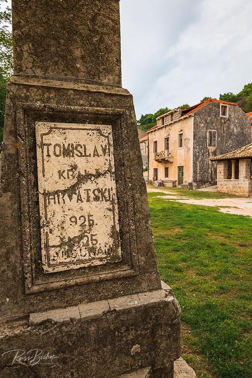 Memorial in Sudurad, Sipan Island, Dalmatian Coast, Croatia