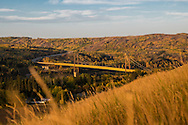 Photo Randy Vanderveen<br /> Dunvegan, Alberta<br /> 2014-09-22<br /> The Dunvegan bridge crossing the Peace River.