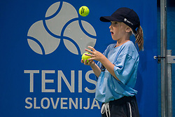 Ballboys during Quarterfinals of tennis tournament  ATP Challenger Zavarovalnica Sava Slovenia Open 2017, on August 10, 2017 in Sports centre, Portoroz/Portorose, Slovenia. Photo by Vid Ponikvar / Sportida