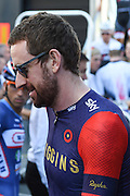 Sir Bradley Wiggins of Great Britain and Team Wiggins ahead of  the Tour of Britain 2016 stage 8 , London, United Kingdom on 11 September 2016. Photo by Martin Cole.