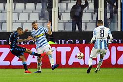 Foto LaPresse/Filippo Rubin<br /> 12/05/2019 Ferrara (Italia)<br /> Sport Calcio<br /> Spal - Napoli - Campionato di calcio Serie A 2018/2019 - Stadio &quot;Paolo Mazza&quot;<br /> Nella foto: GOAL ALLAN (NAPOLI)<br /> <br /> Photo LaPresse/Filippo Rubin<br /> May 12, 2019 Ferrara (Italy)<br /> Sport Soccer<br /> Spal vs Napoli - Italian Football Championship League A 2018/2019 - &quot;Paolo Mazza&quot; Stadium <br /> In the pic: GOAL ALLAN (NAPOLI)