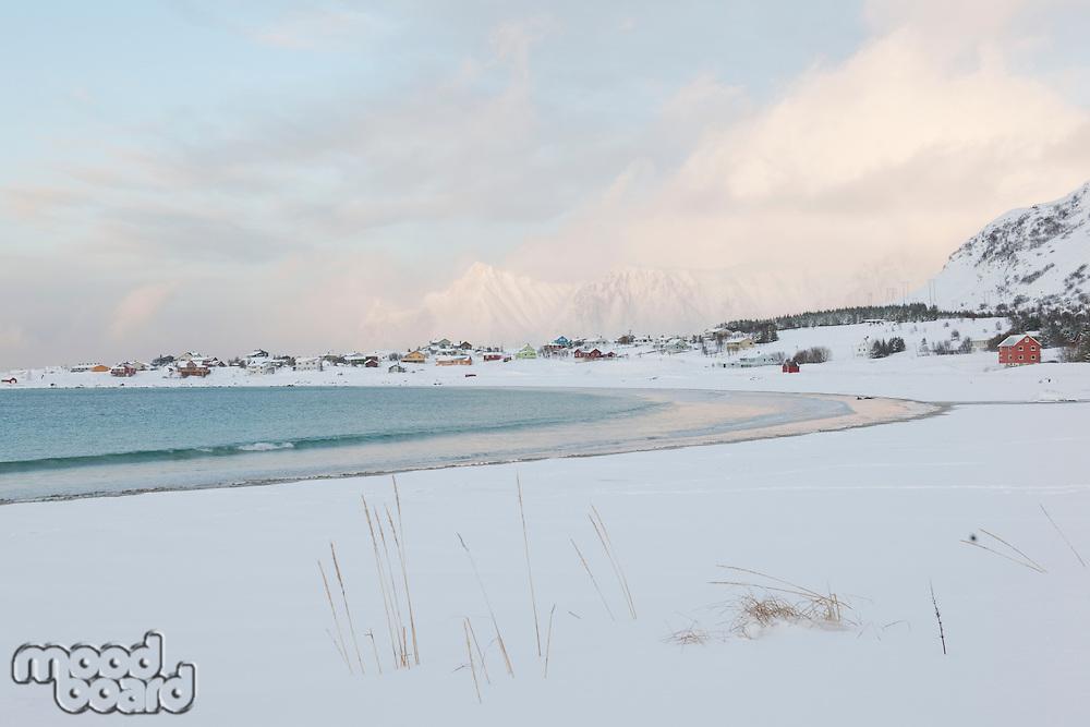 Bay on Moskensoy on the Loftofen Islands Norway