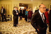 "Photo by Matt Roth.Assignment ID: 10137379A..Alan Greenspan at the Buffy and Bill Cafritz, Ann and Vernon Jordan, Vicki and Roger Sant inaugural ""Bi-Partisan Celebration"" at the Dolley Madison Ballroom at the Madison Hotel in Washington, D.C. on Sunday, January 20, 2013."