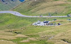 07.07.2017, St. Johann Alpendorf, AUT, Ö-Tour, Österreich Radrundfahrt 2017, 5. Kitzbühel - St. Johann/Alpendorf (212,5 km), im Bild Peloton, Feature, Glocknerstrasse // Peloton, Feature, Glocknerstrasse during the 5th stage from Kitzbuehel - St. Johann/Alpendorf (212,5 km) of 2017 Tour of Austria. St. Johann Alpendorf, Austria on 2017/07/07. EXPA Pictures © 2017, PhotoCredit: EXPA/ JFK