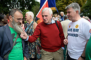 Burston, Norfolk. Burst Strike School Rally. John McDonnell MP Shadow Chancellor on the march around the village. <br /> <br /> Picture: MARK BULLIMORE