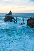 Rocher de la Vierge, Biarritz, Basque Country, France