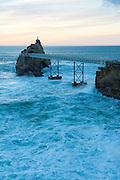 Rocher de la Vierge, Biarritz, Basque Country, France