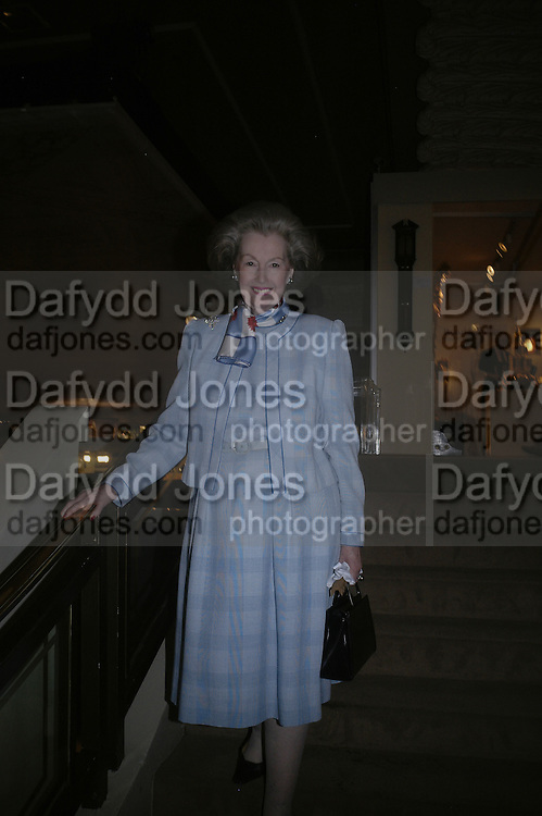 Lady Raine Spencer, Private Preview of the Grosvenor House Art and Antiques Fair. 13 June 2007.  -DO NOT ARCHIVE-© Copyright Photograph by Dafydd Jones. 248 Clapham Rd. London SW9 0PZ. Tel 0207 820 0771. www.dafjones.com.