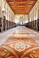The reading room, Biblioteca Medicea Laurenziana, Florence, Italy