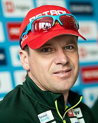 Janez Maric during reception of Slovenia Youth Biathlon Team after 2019 IBU Youth & Junior World Championship Biathlon in Osrblie, Slovakia, on February 5, 2019 in Zavarovalnica Triglav, Ljubljana, Slovenia. Photo by Vid Ponikvar / Sportida