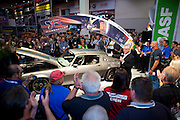 """SEMA 2011 in Las Vegas Nevada, an automobile after market show. Ring Brother's 1970 Chevy Camaro """"Diversion""""."""