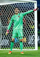 Thibaut Courtois (Belgium)  <br /> Lille 01-07-2016 Stade Pierre Mauroy Football Euro2016 Wales - Belgium / Galles - Belgio <br /> Quarter-finals. Foto Matteo Ciambelli / Insidefoto