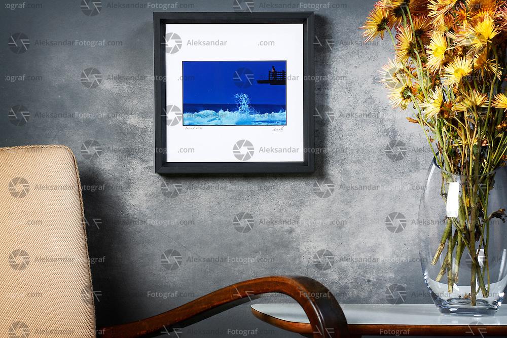 Fine art miniature photography, digital color print, unnumbered edition, signed, print dim. 10x12,5cm, black wooden frame dim. 24,9x24,9cm