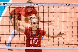 24-08-2017 NED: World Qualifications Belgium - Slovenia, Rotterdam<br /> Lise Van Hecke #10 of Belgium<br /> Photo by Ronald Hoogendoorn / Sportida