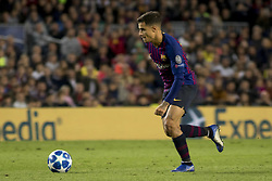 October 24, 2018 - Barcelona, Catalonia, Spain - Coutinho during the UEFA Champion Leage match between FC Barcelona and Internazionale Milano at Camp Nou Stadium in Barcelona, Catalonia, Spain on October 24, 2018  (Credit Image: © Miquel Llop/NurPhoto via ZUMA Press)
