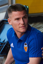 August 20, 2018 - Valencia, U.S. - VALENCIA, SPAIN  - AUGUST 20:  Kevin Gameiro new signing of valencia cf on prior the La Liga between Valencia CF and Atletico de Madrid on August 20, 2018 at Mestalla in Valencia, Spain. (Photo by Carlos Sanchez Martinez/Icon Sportswire) (Credit Image: © Carlos Sanchez Martinez/Icon SMI via ZUMA Press)