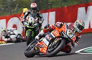 Foto Costanza Benvenuti/LaPresse<br /> 30-04-2016<br /> Sport Motociclismo- WorldSBK<br /> 05 WorldSBK Motul Italian Round, Imola,Autodromo Enzo e Dino Ferrari - 2016 <br /> nella foto: Chaz Davies - Ducati Panigale R - 1&deg; cl. Gara 1<br /> <br /> Photo Costanza Benvenuti/LaPresse<br /> 2016 30 April<br /> Sport - Motociclismo - World SBK<br /> 05 WorldSBK Motul Italian Round, Imola,Autodromo Enzo e Dino Ferrari - 2016 <br /> in the Photo: Chaz Davies - Ducati Panigale R - 1&deg; cl. Race 1