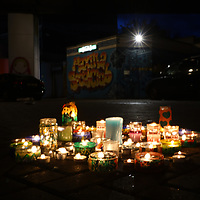 Two months after Grenfell fire candles light vigil at West Way