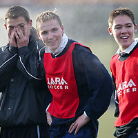 St Johnsone training....05.12.03<br />Having fun during the weekly competition, the loser buys the buscuits, John Robertson can't bear to watch alon with Ryan Stevenson and Stephen Fraser<br />see story by Gordon Bannerman Tel 01738 553978<br />Picture by Graeme Hart.<br />Copyright Perthshire Picture Agency<br />Tel: 01738 623350  Mobile: 07990 594431