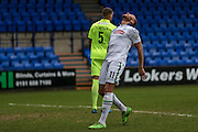 Lois Maynard (Tranmere Rovers) reacts to missing a chance to score when through on the keeper during the Vanarama National League match between Tranmere Rovers and Southport at Prenton Park, Birkenhead, England on 6 February 2016. Photo by Mark P Doherty.