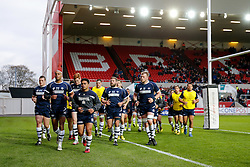 Bristol Rugby Winger David Lemi (capt) leads his side - Mandatory byline: Rogan Thomson/JMP - 22/11/2015 - RUGBY UNION - Ashton Gate Stadium - Bristol, England - Bristol Rugby v Scarlets Premiership Select - B&I Cup.