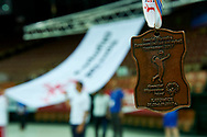 Katowice, Poland - 2017 September 03: Closing Ceremony during European Unified Volleyball Tournament 2017 at Spodek Hall on September 03, 2017 in Katowice, Poland.<br /> <br /> Adam Nurkiewicz declares that he has no rights to the image of people at the photographs of his authorship.<br /> <br /> Picture also available in RAW (NEF) or TIFF format on special request.<br /> <br /> Any editorial, commercial or promotional use requires written permission from the author of image.<br /> <br /> Image can be used in the press when the method of use and the signature does not hurt people on the picture.<br /> <br /> Mandatory credit:<br /> Photo by © Adam Nurkiewicz / Mediasport