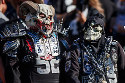 OAKLAND, CA - NOVEMBER 17: Oakland Raiders fans look on during the second quarter against the Cincinnati Bengals at RingCentral Coliseum on November 17, 2019 in Oakland, California. The Oakland Raiders defeated the Cincinnati Bengals 17-10. (Photo by Jason O. Watson/Getty Images) *** Local Caption ***
