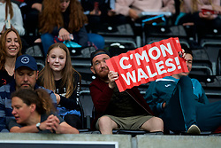 SWANSEA, WALES - Thursday, June 7, 2018: Wales supporters during the FIFA Women's World Cup 2019 Qualifying Round Group 1 match between Wales and Bosnia and Herzegovina at the Liberty Stadium. (Pic by David Rawcliffe/Propaganda)