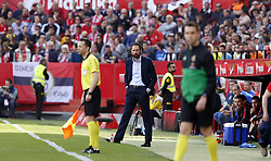 February 23, 2019 - Seville, Madrid, Spain - Pablo Machin Diez (Sevilla FC) seen in action during the La Liga match between Sevilla FC and Futbol Club Barcelona at Estadio Sanchez Pizjuan in Seville, Spain. (Credit Image: © Manu Reino/SOPA Images via ZUMA Wire)