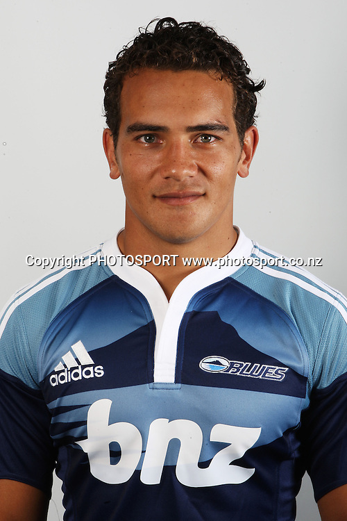 Benson Stanley. Auckland Blues super 14 rugby union headshots. Blues training grounds, Unitec, Auckland. 25 January 2010. Photo: William Booth/PHOTOSPORT