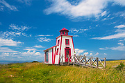 Ligthouse on the shore of the St. Lawrence River. Bas St. Laurent Region<br />