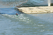 Kayak the rapids at Mad River Run in Eastwood Park, Dayton, Ohio.