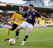 Dundee's Jamie McCluskey and Livingston' s Stefan Scougall - Livingston v Dundee, IRN BRU Scottish Football League, First Division - ..© David Young - .5 Foundry Place - .Monifieth - .Angus - .DD5 4BB - .Tel: 07765 252616 - .email: davidyoungphoto@gmail.com.web: www.davidyoungphoto.co.uk