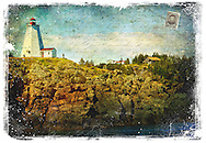 Grand Manan Island, New Brunswick, Canada - Forgotten Postcard digital art collage
