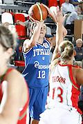 DESCRIZIONE : Valmiera Latvia Lettonia Eurobasket Women 2009 Italia Bielorussia Italy Belarus<br /> GIOCATORE : Raffaella Mascoadro<br /> SQUADRA : Italia Italy<br /> EVENTO : Eurobasket Women 2009 Campionati Europei Donne 2009 <br /> GARA :  Italia Bielorussia Italy Belarus<br /> DATA : 09/06/2009 <br /> CATEGORIA : tiro<br /> SPORT : Pallacanestro <br /> AUTORE : Agenzia Ciamillo-Castoria/E.Castoria<br /> Galleria : Eurobasket Women 2009 <br /> Fotonotizia : Valmiera Latvia Lettonia Eurobasket Women 2009 Italia Bielorussia Italy Belarus<br /> Predefinita :