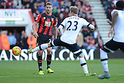 Tottenham Hotspur midfielder Christian Eriksen stretches for the ball during the Barclays Premier League match between Bournemouth and Tottenham Hotspur at the Goldsands Stadium, Bournemouth, England on 25 October 2015. Photo by Mark Davies.