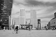 Berlin GERMANY,  General View of the Potsdamer Platz, Bahnhof/ station entrance, Tuesday 16/06/2009, [Mandatory Credit. Peter Spurrier/Intersport Images] Street Photos