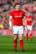 Hadleigh Parkes (#12) of Wales during the Guinness Six Nations match between Scotland and Wales at BT Murrayfield Stadium, Edinburgh, Scotland on 9 March 2019.