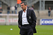 Southend United Manager Phil Brown inspecting the pitch  before the EFL Sky Bet League 1 match between Bristol Rovers and Southend United at the Memorial Stadium, Bristol, England on 11 March 2017. Photo by Gary Learmonth.