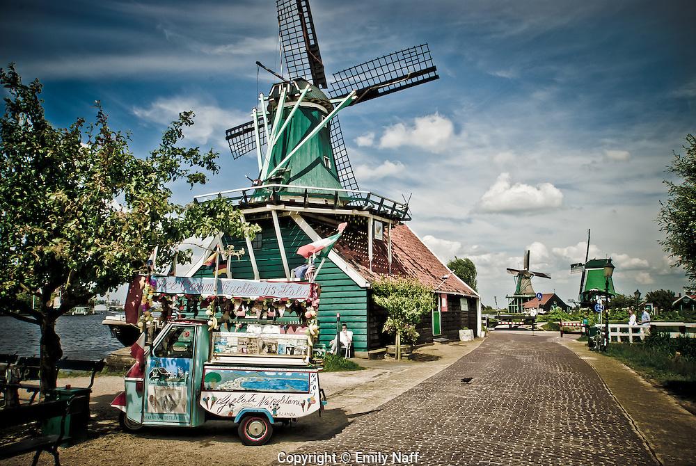Italian style Gelato stand in Zaanse Schans, Netherlands.
